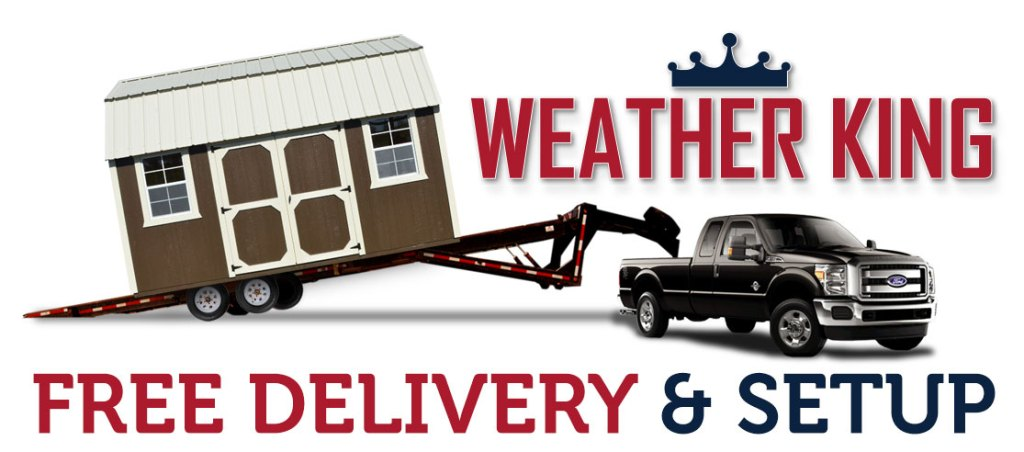 Free Delivery Shed